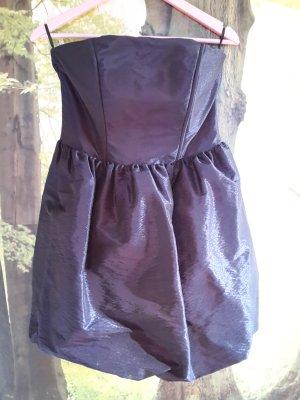 Pimkie Balloon Dress brown violet-black