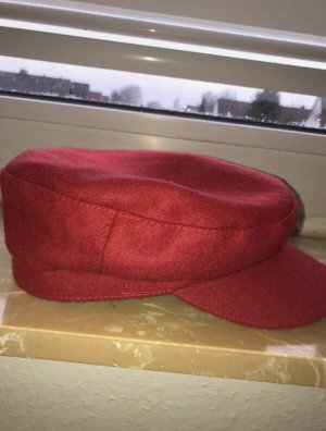 Primark Baker's Boy Cap red-dark red