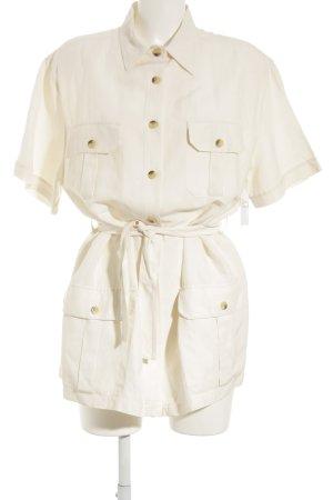 BALLOON Kurzarm-Bluse wollweiß-creme klassischer Stil