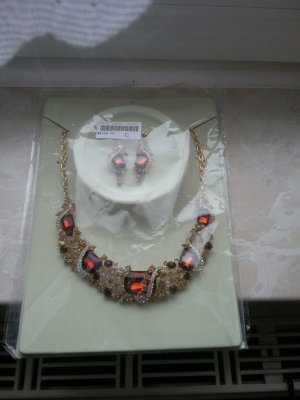 Collier Necklace gold-colored-cognac-coloured