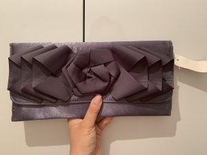 Balltasche Clutch silber lila
