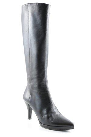Bally Absatz Stiefel schwarzbraun Street-Fashion-Look