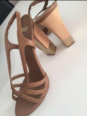 Bally Hoge hakken sandalen beige