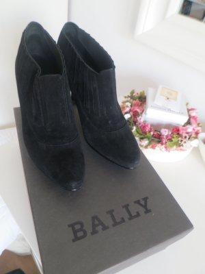 Bally Ankle Boot Schwarz Wildleder in Grösse 39.5