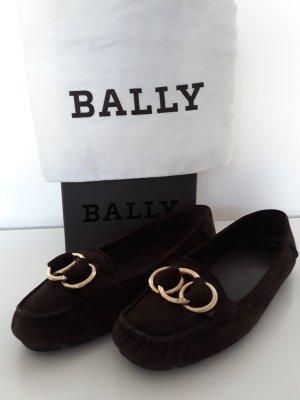 Bally Bailarinas marrón oscuro