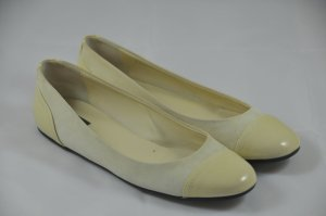 Bally Patent Leather Ballerinas white leather