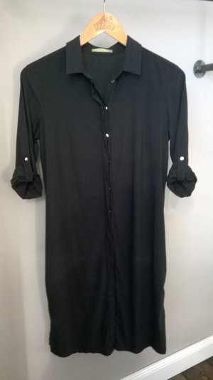 Robe chemise noir viscose