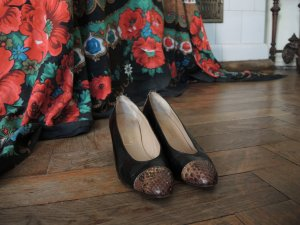 Bally edle Vintage Pumps Schuhe mit Kontrast-Schuhspitze made in France