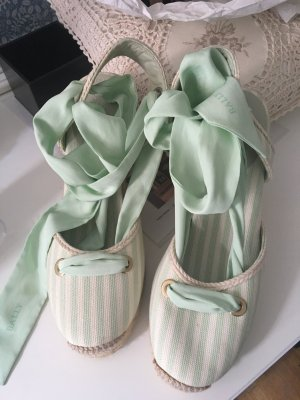Bally Espadrilles Sandalen in Creme mint