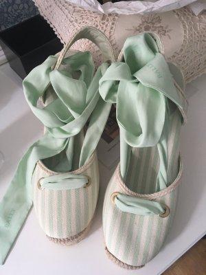 Bally Espadrilles Sandalen in Creme mint