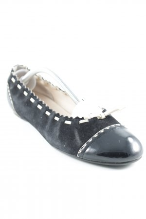 Bally Bailarinas plegables negro-crema look casual