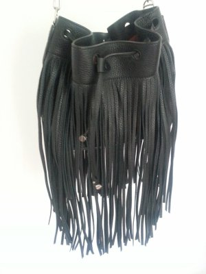 Bally Fringed Bag black