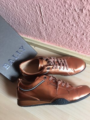 Bally Lace Shoes cognac-coloured-russet leather