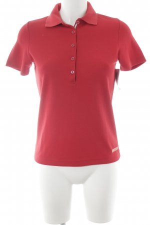 Bally Golf Camisa de manga corta rojo estilo sencillo