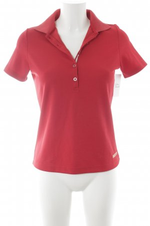 Bally Golf Chemise à manches courtes rouge style simple