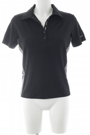 Bally Golf Short Sleeve Shirt black-white simple style