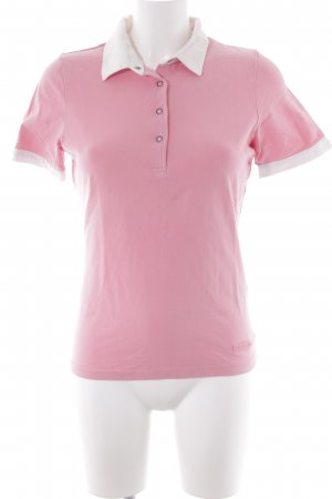 Bally Golf Polo Shirt pink-white athletic style