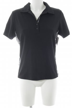Bally Golf Camiseta tipo polo negro-blanco estilo deportivo