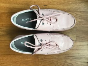 Bally Golf Lace Shoes pink leather