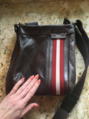 Bally Handtasche Leder braun  Messenger