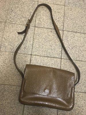Bally Handtasche Schultertasche Vintage beige mit Muster