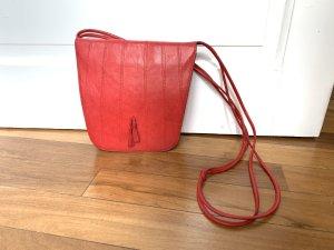 Bally Handtasche Umhängetasche rot Leder