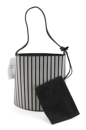 Bally Handtasche weiß-schwarz Streifenmuster Elegant