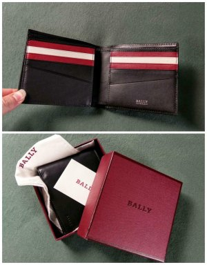 Bally Wallet black-brick red leather