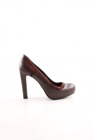 Bally High Heels bronzefarben Business-Look