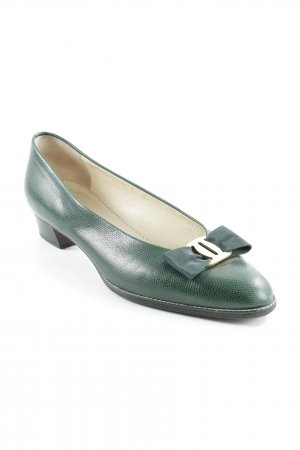 Bally High Heels forest green simple style