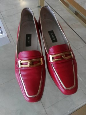 Bally Business Shoes gold-colored-dark red