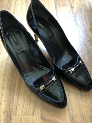 Bally Lack Pumps Gr. 40 schwarz