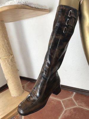 Bally Leder Stiefel, Gr 3,5. neu! KP 599€