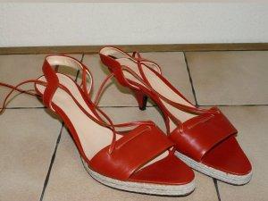 Bally Sandalo con cinturino rosso neon Pelle