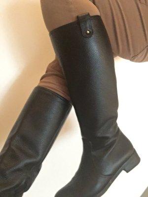 BALLY Lederstiefel, Größe 39, schwarz