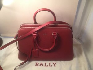 BALLY LUXUS BAG Berkeley Embossed Red
