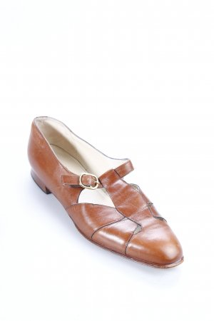 Bally Mary Jane Halbschuhe cognac Retro-Look