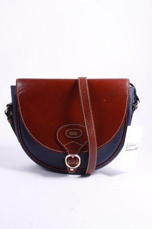 Bally Minitasche braun-dunkelblau schlichter Stil