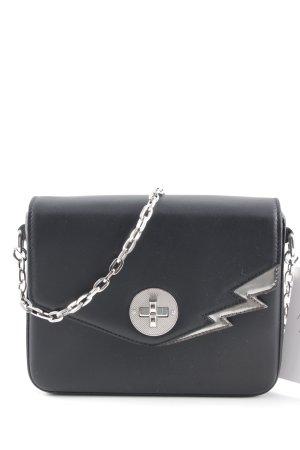 Bally Minitasche schwarz-silberfarben Rockabilly-Look