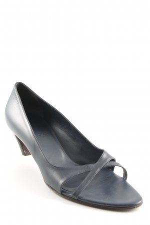 Bally Peep Toe Pumps donkerblauw casual uitstraling