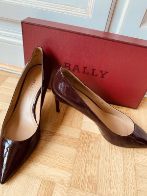 Bally High Heels bordeaux leather