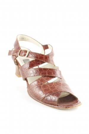 Bally Strapped High-Heeled Sandals brown elegant