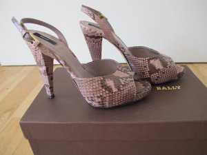 Bally Sandalen Slingbacks Schuhe 37 100% Original Python w Neu