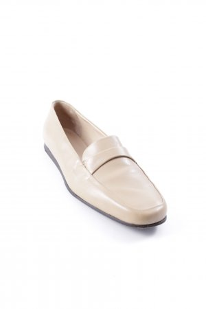 Bally Schlüpfschuhe creme Retro-Look