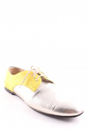 Bally Schnürschuhe gelb-goldfarben Business-Look