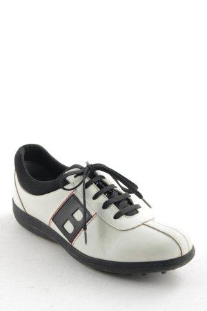 Bally Schnürschuhe hellbeige-schwarz sportlicher Stil