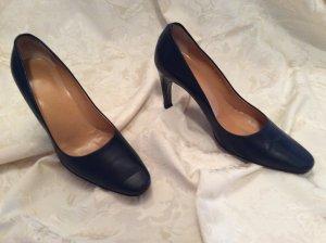 Bally Schuhe NW Leder (innen aussen) dunkelblau Größe 38,5, Absatzhöhe: 9 cm
