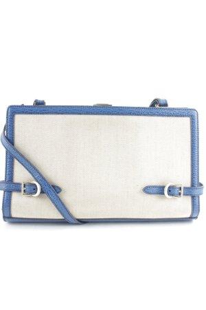 Bally Schultertasche beige-blau schlichter Stil