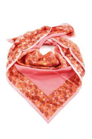 Bally Panno di seta rosso lampone motivo astratto elegante