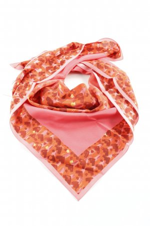Bally Silk Cloth raspberry-red abstract pattern elegant